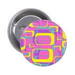 Botón colorido del diseño del extracto de los rect pins