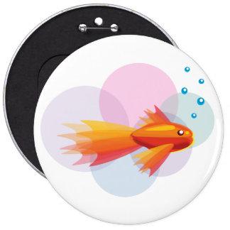 Botón colorido del Goldfish