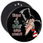 Botón colosal de Scrooge Pinback (negro)