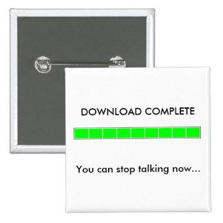 Botón completo de la transferencia directa pin