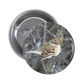 Botón común del gorrión B0024 Pin Redondo De 2 Pulgadas
