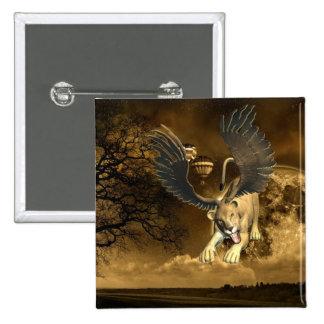 Botón con alas de la leona