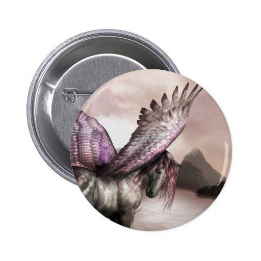 Botón con alas de Pegaso