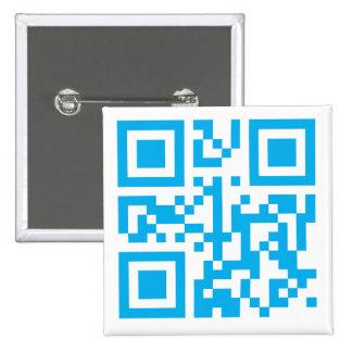 Botón con código de encargo de QR Pin Cuadrado