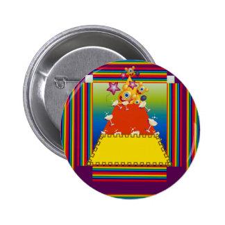 Botón con diseño del extracto de las pastillas de pin redondo de 2 pulgadas