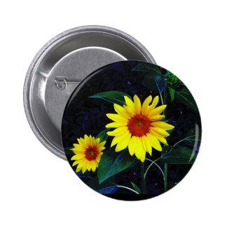 ¡Botón con el girasol brillante! Pin Redondo 5 Cm