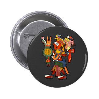 Botón con el indio maya pin redondo de 2 pulgadas