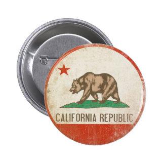 Botón con la bandera apenada de la república de Ca Pin Redondo De 2 Pulgadas