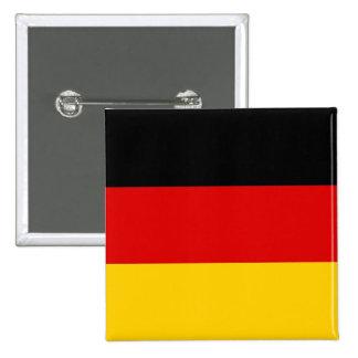 Botón con la bandera de Alemania Pin Cuadrado