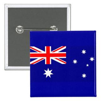 Botón con la bandera de Australia Pin Cuadrado