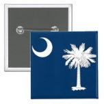 Botón con la bandera de Carolina del Sur Pin