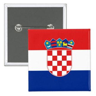 Botón con la bandera de Croacia