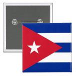 Botón con la bandera de Cuba