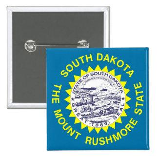 Botón con la bandera de Dakota del Sur Pins