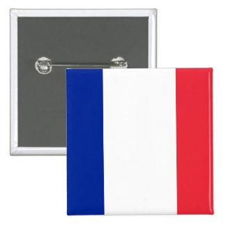Botón con la bandera de Francia Pin Cuadrado
