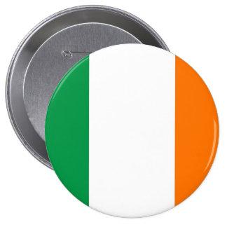 Botón con la bandera de Irlanda Pin Redondo De 4 Pulgadas