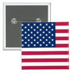 Botón con la bandera de los E.E.U.U. Pins