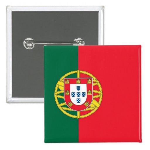 Botón con la bandera de Portugal Pin