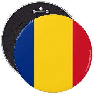 Botón con la bandera de Rumania Pin Redondo De 6 Pulgadas