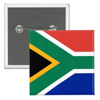 Botón con la bandera de Suráfrica Pin Cuadrado