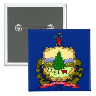 Botón con la bandera de Vermont