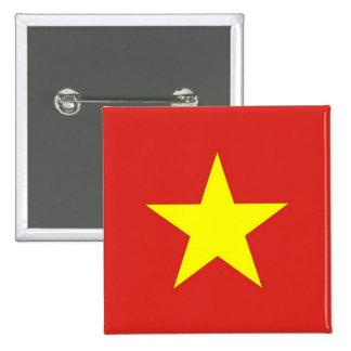 Botón con la bandera de Vietnam Pin Cuadrado