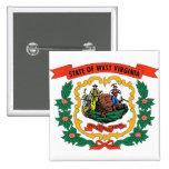 Botón con la bandera de Virginia Occidental Pins