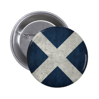 Botón con la bandera sucia de Escocia Pin Redondo De 2 Pulgadas