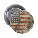Botón con la estatua de la libertad en bandera ame pin