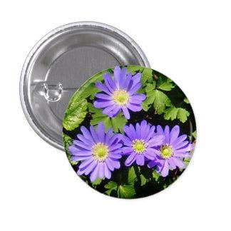 ¡Botón con las anémonas de la primavera! Pin Redondo 2,5 Cm