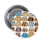 Botón con las galletas cocidas pins