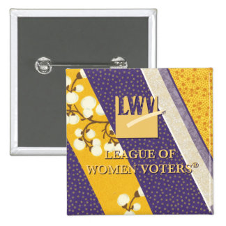 Botón conmemorativo de 2013 LWV Pin Cuadrado