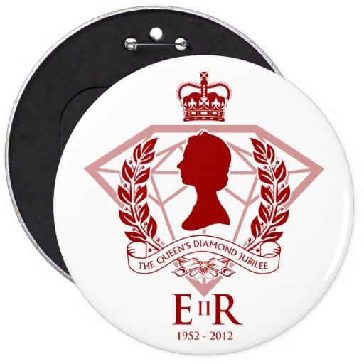 Botón conmemorativo del jubileo de diamante