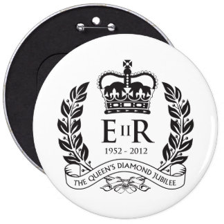Botón conmemorativo del jubileo de diamante pin redondo de 6 pulgadas