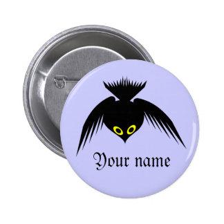 Botón conocido adaptable del cuervo pin redondo de 2 pulgadas