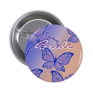 Botón conocido de la novia - insignias adaptables  pin redondo de 2 pulgadas