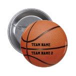 Botón conocido del baloncesto de su equipo pins