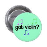 Botón conseguido colorido de la música del violín pins