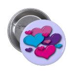 botón corazón-multicolor pins