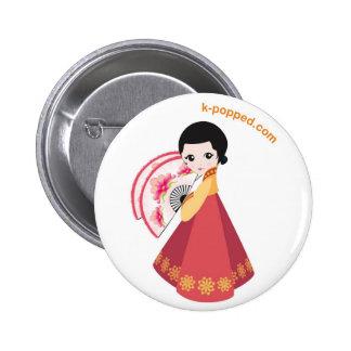 Botón coreano del bailarín pins