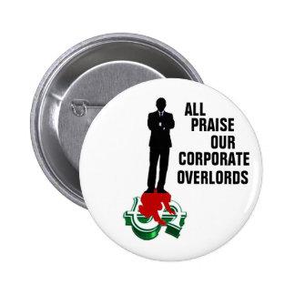 Botón corporativo de los Overlords Pin Redondo De 2 Pulgadas