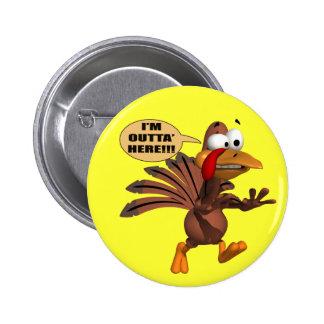 Botón - corriendo para la cubierta Turquía Pin