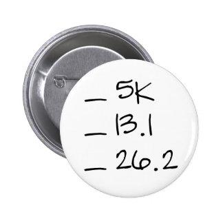 Botón corriente de la lista de control de la meta pin