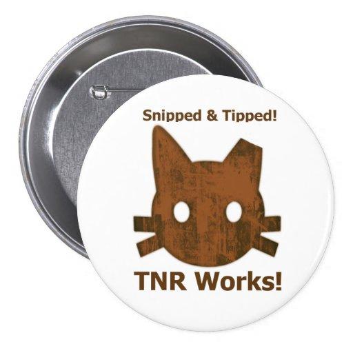 Botón cortado y inclinado de TNR Pin Redondo De 3 Pulgadas