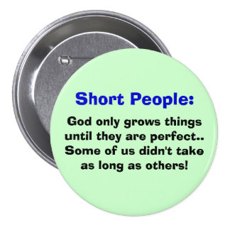 Botón corto de la gente pin redondo de 3 pulgadas