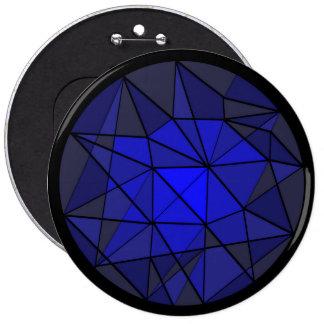 Botón cristalino azul del diseño