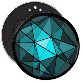 Botón cristalino del diseño de la aguamarina