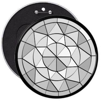 Botón cristalino del diseño de la gema del
