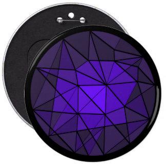 Botón cristalino púrpura del diseño