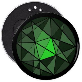 Botón cristalino verde del diseño